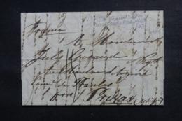 FRANCE - Cachet D'entrée En France Par Boulogne En Rouge En 1846 Sur Lettre De Londres - L 46730 - Marcophilie (Lettres)
