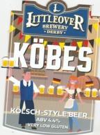 LITTLEOVER BREWERY (DERBY, ENGLAND) - KOBES KOLSCH STYLE BEER - PUMP CLIP FRONT - Letreros
