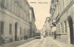 PARMA - Strada Farini, Tramway (carte Vendue En L'état) - Parma