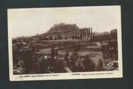 Athens - Athenes - Temple De Jupiter Olympique Et Acropole     Vae107 - Grèce