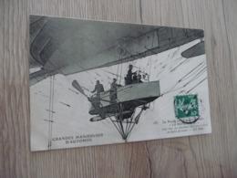 CPA Thème Aviation Grandes Manoeuvres D'Automne La Nacelle Du Dirigeable La République - Dirigibili