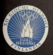 1940 XII  Finlandia OLIMPIADI Suomi  Helsinki    OLIMPIQUE   ERINNOFILO  ERINNOPHILIE    Envelope CINDERELLA - Giochi Olimpici