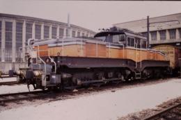 Photo Diapo Diapositive Slide Train Wagon Locomotive Electrique SNCF CC 1103 à VSG Le 14/11/1997 VOIR ZOOM - Dias