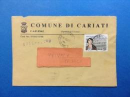 COMUNI D'ITALIA BUSTA DEL 1995 COMUNE DI CARIATI COSENZA CON CAMPI DI CONCENTRAMENTO MAFALDA D SAVOIA - 1946-.. République