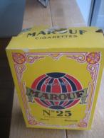 Grande Boite Factice Publicitaire Très Ancienne En Carton - Cigarettes égyptiennes MAROUF N°25 - Boîtes