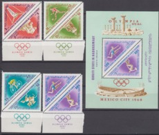 Aden, Qu'aiti State In Hadhramaut,1968 Mi # 206-13A Bl 24A (MARGINS) Mexico City Summer Olympics MNH OG - Sommer 1968: Mexico