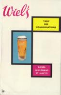 Bière Wiel's Et Navy's Tarif Brasserie Wieleman Tarif Des Consommations - Andere Sammlungen