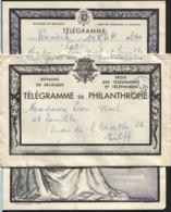 Télégramme De Luxe PAR POSTE AU DESTINATAIRE LIEGE/T.T. + Obl. Postale Le 31/5/44 - Telegraph