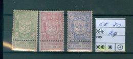 68-70 Xx  COB 29€ - 1893-1907 Coat Of Arms