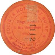 Monnaie, France, Société Horme Et Buire, Lyon, 10 Centimes, TTB+, Carton - Noodgeld