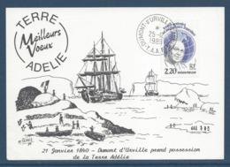 TAAF - Terre Australes Et Antarctiques Français - YT N° 133 - Dumont D'Urville - Terre Adeline - 1989 - Brieven En Documenten