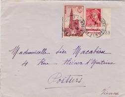 Cathédrale De Strasbourg Et Mercure Avec Coin Daté Sur Lettre CaD De Fontenay Le Comte - Marcophilie (Lettres)