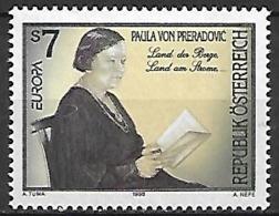 AUTRICHE    -   1996  .  Y&T N° 2018  *.    EUROPA.  Paula Von Preradovic, écrivain. - 1991-00 Unused Stamps