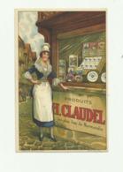 """14 - Cp Pub Produits """" H CLAUDEL """" Les Plus Fins De Normandie  Bon état - France"""