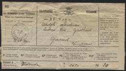 Telegramme Obl. Postale WUUSTWEZEL + XP 4.00 Pour Frais D'exprès Payés. - Telegraph