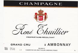 Etiquette Champagne René Thuillier à Ambonnay (51) / 150 Cl - Champagne
