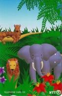 JAPON. ELEPHANTS - ELEFANTES. Jungle And Animals. JP-231-224 D. (085) - Japón