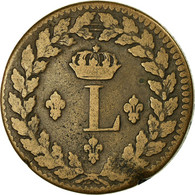 Monnaie, France, Louis XVIII, Decime, 1815, Strasbourg, TB, Bronze - D. 10 Centimes