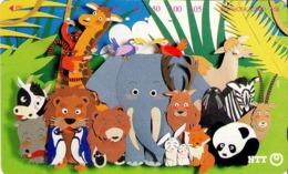 JAPON. ELEPHANTS - ELEFANTES. Cartoon Animals. JP-231-288 D. (133) - Japón