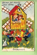 BONSECOURS - 10 Vues Sous Les Ailes Du Moulin - Danse Enfantine - 3 Scans - Bonsecours