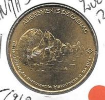 Jeton Touristique 56 Carnac Alignements 2005 - Monnaie De Paris