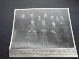 """Origineel Knipsel ( 2829 ) Uit Tijdschrift """" Ons Volk """"  1935  :  Cortenberg   Kortenberg  Prof. L. Scharpé  Prof. Nelis - Vieux Papiers"""