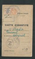 Timbre Fiscal D'Algérie Sur Carte D'identité De 1924 - Algerije (1924-1962)