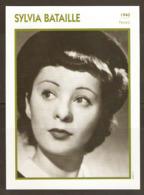 PORTRAIT DE STAR 1940 FRANCE - ACTRICE SYLVIA BATAILLE - ACTRESS CINEMA FILM PHOTO - Fotos
