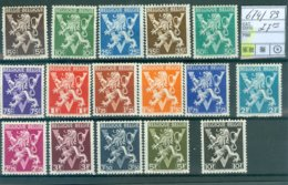 674-689 Xx COB 27.00€ - Belgium
