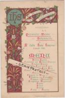 MENU-COLOREE-PREMIERE MESSE-TONGEREN-LOUIS LAMPRUNE?-03.04.1902-TE DEUM LAUDAMUS-DIMENSIONS+-13-19CM-VOYEZ 2 SCANS-RARE - Menus