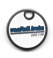 Jeton De Caddie  Ville, Entreprise  VonRoll  Isola  Verso  1920 - 1995  75  Ans  UDO - FIM  à  DELLE  ( 90 ) - Munten Van Winkelkarretjes