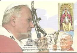 Carte Maximum - Venezuela - Papa João Paulo II - Pape Juan Pablo II - Pean Paul II - Venezuela