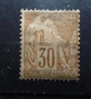 Colonies Générales 1881 Type ALPHEE DUBOIS , Yvert No 55 ,30 C Brun Neuf * MH B TB Cote 50 Euros - Alphée Dubois