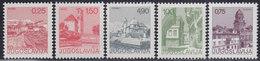 Yugoslavia 1976 Definitive - Tourism, MNH (**) Michel 1646, 1660-1662, 1672 - 1945-1992 République Fédérative Populaire De Yougoslavie