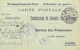 Ardennes  Vivier Au Court  Thomas Marcel Chez Ses Parents  Soltau  Prisonnier - Poststempel (Briefe)