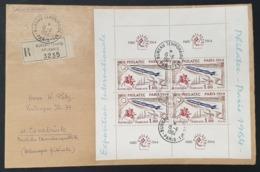 N° 1422 (Demi/Bloc N° 6) Avec Oblitération De 1964 Sur Lettre  TB - Sheetlets