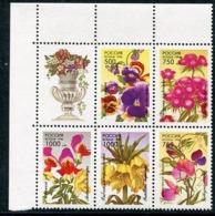 RUSSIA 1996 Garden Flowers MNH / **.  Michel 480-84 - Neufs