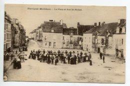 56 PLUVIGNER Jour De Fete Danse Ronde Place Et Rue Saint Michel écrite En 1929 D18 2019 - Pluvigner