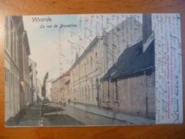 CPA- Vilvoorde/ Vilvorde- La Rue De Bruxelles- Animée - à Emma Piérard, Beauraing - Rare - Vilvoorde