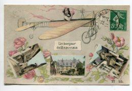 60 BEAUVAIS Un Bonjour De Jeune Fille En Avion Aéroplane 1913 Timbrée  D18 2019 - Beauvais