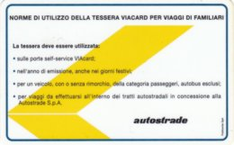 VIACARD NORME DI UTILIZZO DELLA TESSERA VIACARD PER VIAGGI DI FAMILIARI - Italia
