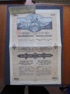 BULGARIE, SOFIA 1909 - ROYAUME DE BULGARIE, EMPRUNT 4 1/2% 1909 - OBLIGATION 500 FRS OR - BELLE DECO - Azioni & Titoli