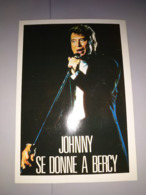 077) RARE : Johnny Hallyday, Concert à Bercy En Septembre 1987, Tirage Limité à 160ex (10,5cmX15cm) - Artisti