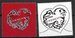 France 2007 N° 3996/3997 Neufs St Valentin Givenchy à La Faciale - Neufs