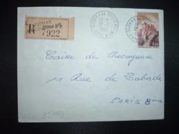 LR TP CHATEAU DE JOUX 1,30 OBL.12-7 1966 DIJON RP AN. MOBILE N°1 COTE D'OR (21 ANNEXE MOBILE) - Storia Postale