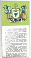 Waasland Brochure Volledig Open 62.50x43 Cm  Kaart  Toeristisch Met Uitleg Jaren 60 Oa Beveren Lokeren Doel Enz Jaren 60 - Dépliants Touristiques