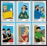France 2007 N° 4051/4056 Neufs Tintin Sous Faciale - Francia