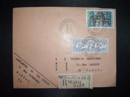 LR TP CHATEAU DE VAL 2,30+M. DE COCTEAU 0,20 Paire OBL.3-1 1967 78 MANTES LA  JOLIE AN.MOB. N°1 YVELINES (ANNEXE MOBILE) - Storia Postale