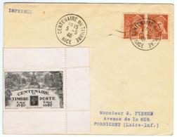 1940 /  Nice / Centenaire Du Timbre-Poste / Vignette Commémorative - Expositions Philatéliques