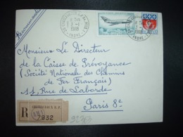 LR TP MYSTERE 20 2,00 + BLASON PARIS 0,30 OBL.3-1 1968 36 CHATEAUROUX RP AN.MOB. 1 INDRE (ANNEXE MOBILE) - Postmark Collection (Covers)